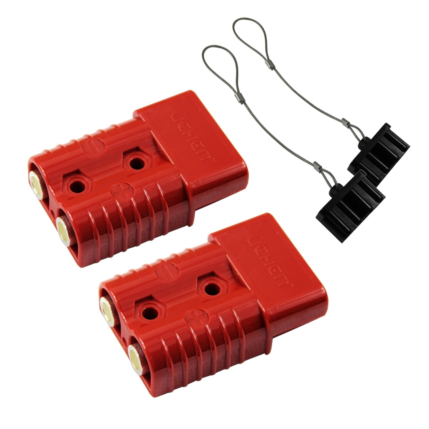 HYCLAT 2-4 Gauge 175 A Battery Quick Connect/Disconnect Wire Harness Plug Connector Recovery Winch Trailer