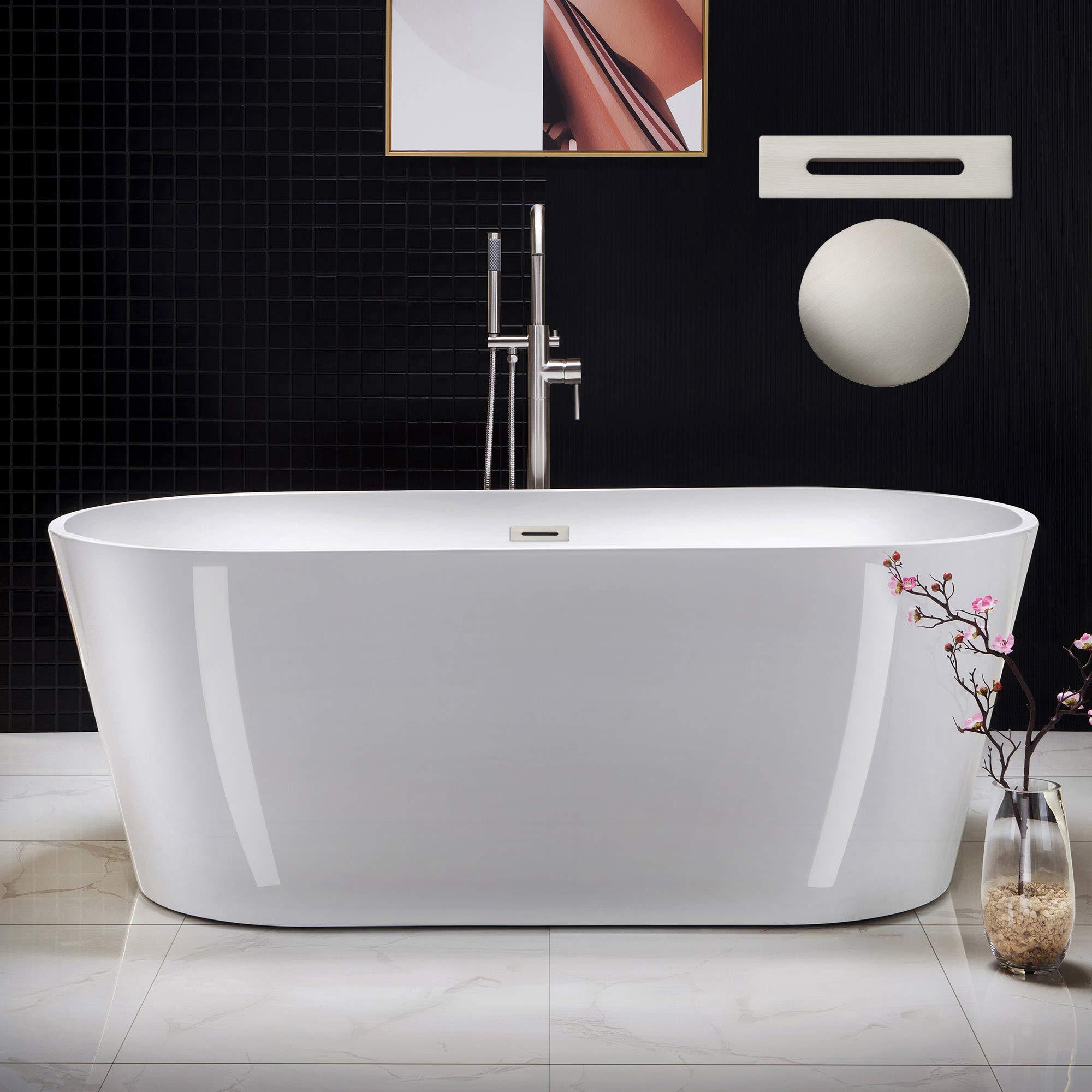 WOODBRIDGE B-0013-B/N-Drain &O Bathtub, White