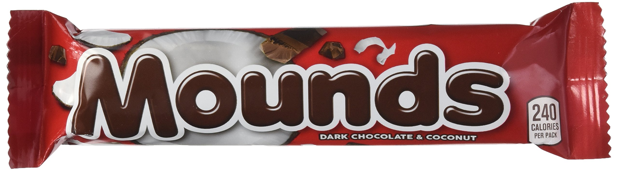 MOUNDS Dark Chocolate and Coconut Candy Bar, 1.75 Ounce (Pack of 36)