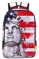 Pizoff Doulbe Mesh Padded Adjustable Shoulder Straps Cute USA Independence Day Strips Print Rucksack Travel Backpacks Y1799-29