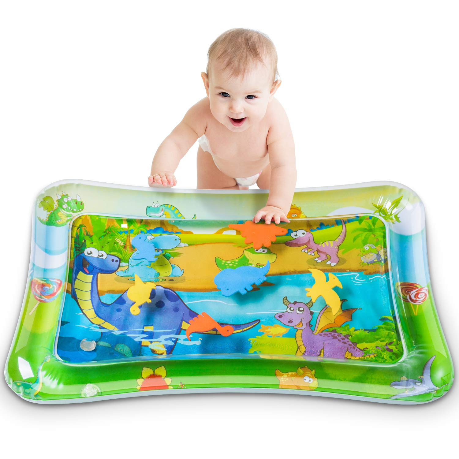 Tummy Time Baby Water Play Mat,Baby Inflatable Water Play Mat Activity Center Toy for Newborn Baby Infant Toddler Boy and Girl (Holiday and Baby Shower Gift) Physical Development Toys 3/6/9 Months