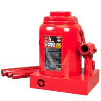BIG RED T93007 Torin Hydraulic Stubby Low Profile Welded Bottle Jack, 30 Ton (60,000 lb) Capacity, Red