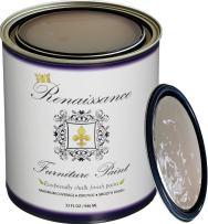Retique It Chalk Finish Paint by Renaissance - Non Toxic, Eco-Friendly Chalk Furniture & Cabinet Paint - 32 oz (Quart), French Beige