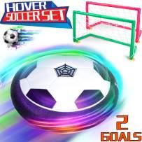 Hover Soccer Ball Boy Toys, SportHoverBallSet2Goals, Colorful LEDLightAirPowerSoccerBallOutdoorIndoorTrainingFootballDiskFamilyGameSoccerToyfor KidsBirthdayHoliday Christmas