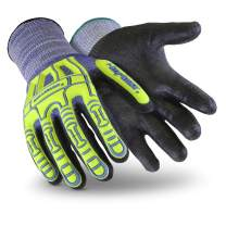 HexArmor Rig Lizard Thin Lizzie 2095 Impact Work Gloves with 360 Cut Resistance, Large