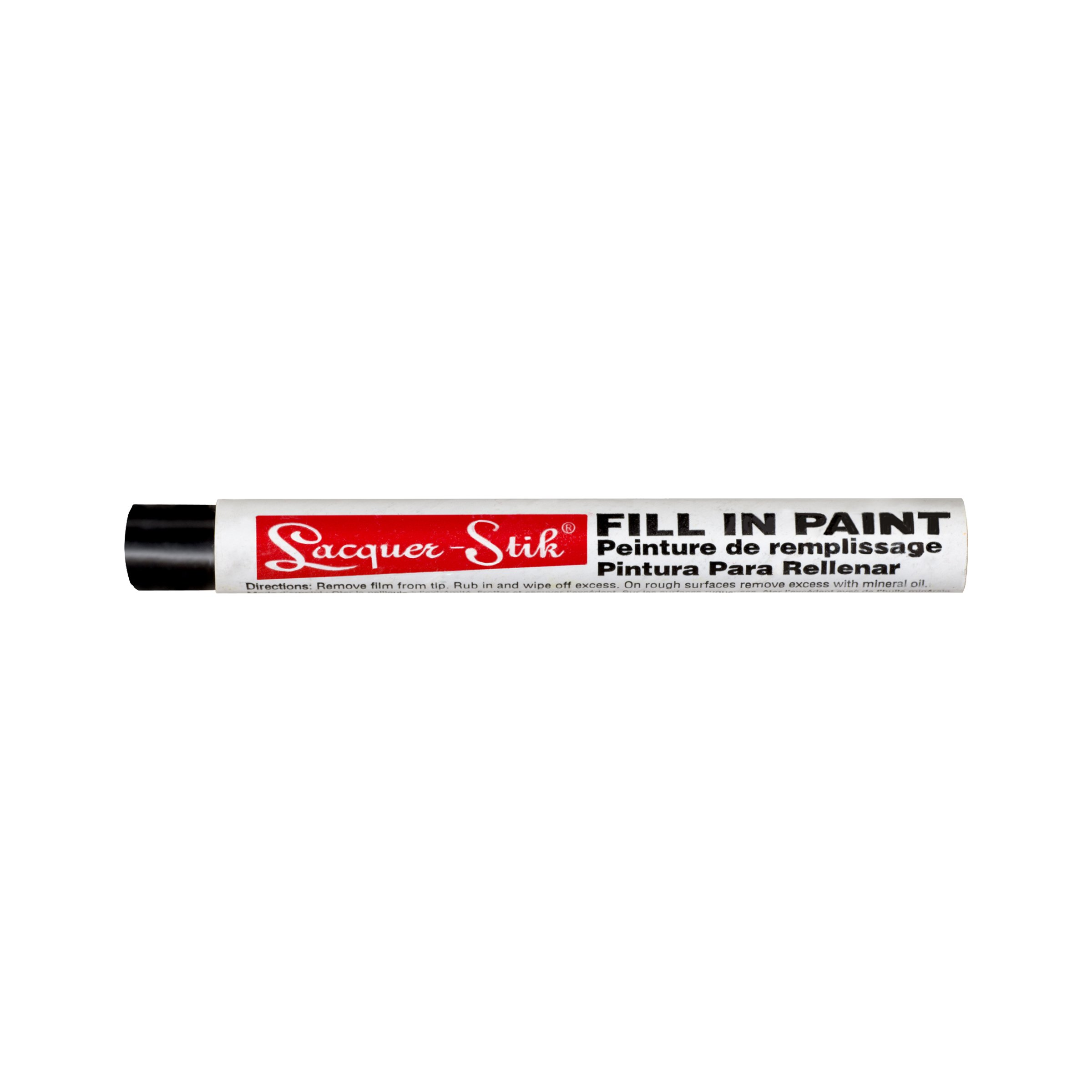 """Markal Lacquer-Stik Highlighter Fill-In Paint Crayon, 3/8"""" Diameter, 4-1/4"""" Length, Black (Pack of 12)"""