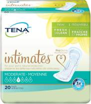 Tena Intimates Moderate Regular Incontinence Pad for Women, 20 Count (Pack of 2)