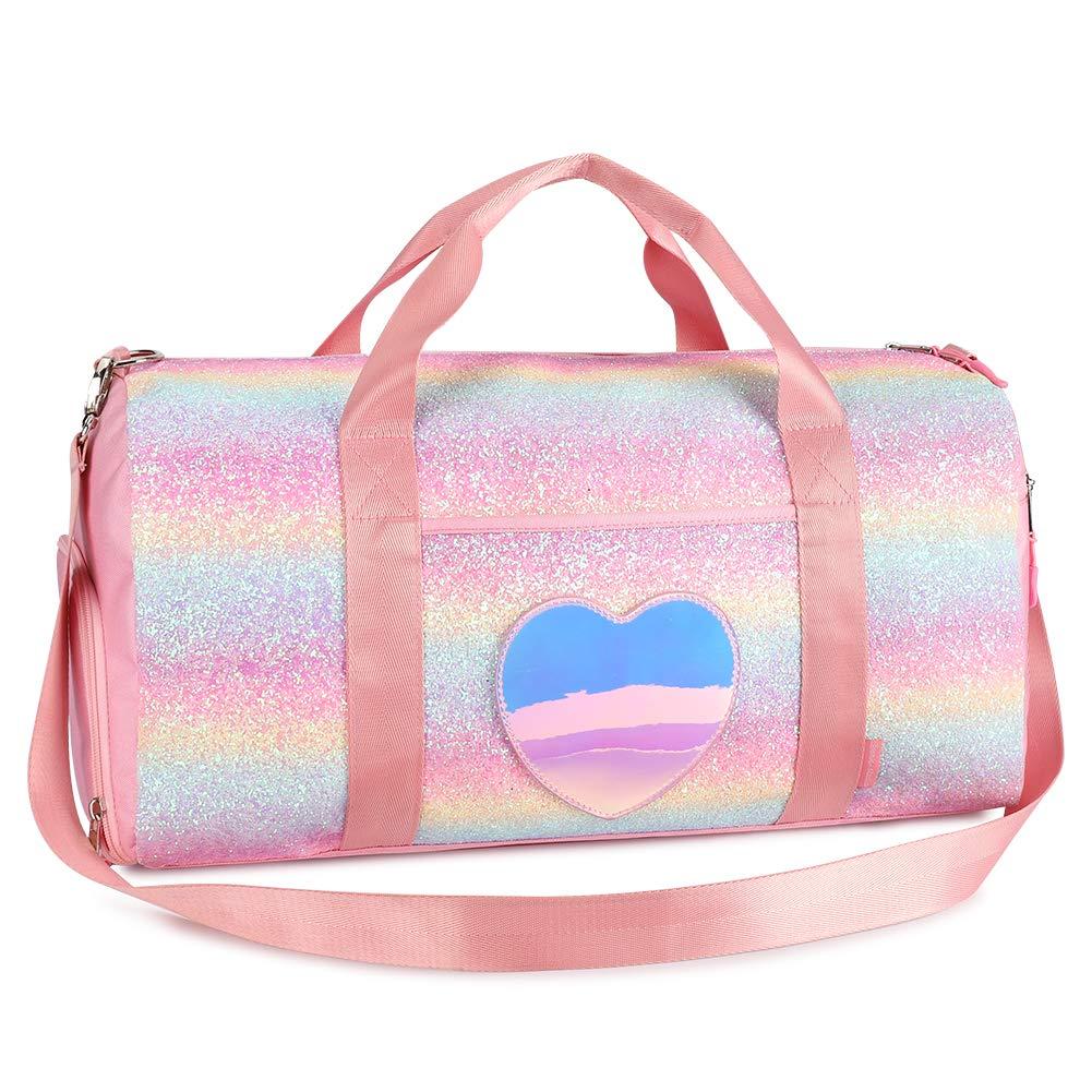 Mibasies Kids Duffel Bags for Girls Water Resistant Dance Bag