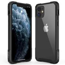"""OTOFLY Heavy Duty Military Grade iPhone 11 Case -Crystal Clear - Phone Armor - Shock/Shatterproof - Slim - Hybrid Materials - Wireless Charging - Compatible with iPhone 11 6.1"""" (Black)"""