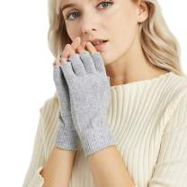 Novawo Cashmere Blend Fingerless Gloves Warm Arm Warmers
