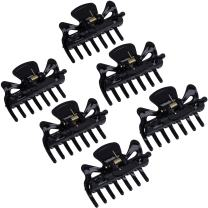 6 Pieces Plastic Hair Clips Claw Women Hair Claw Clamps Hairpin (Black)