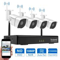 Home Security Camera System Wireless 1080P NVR with 4pcs 720P HD Cameras 65ft Night Vision for Outdoor Indoor Without Hard Drive