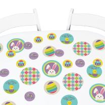 Big Dot of Happiness Hippity Hoppity - Easter Party Giant Circle Confetti - Easter Bunny Party Decorations - Large Confetti 27 Count