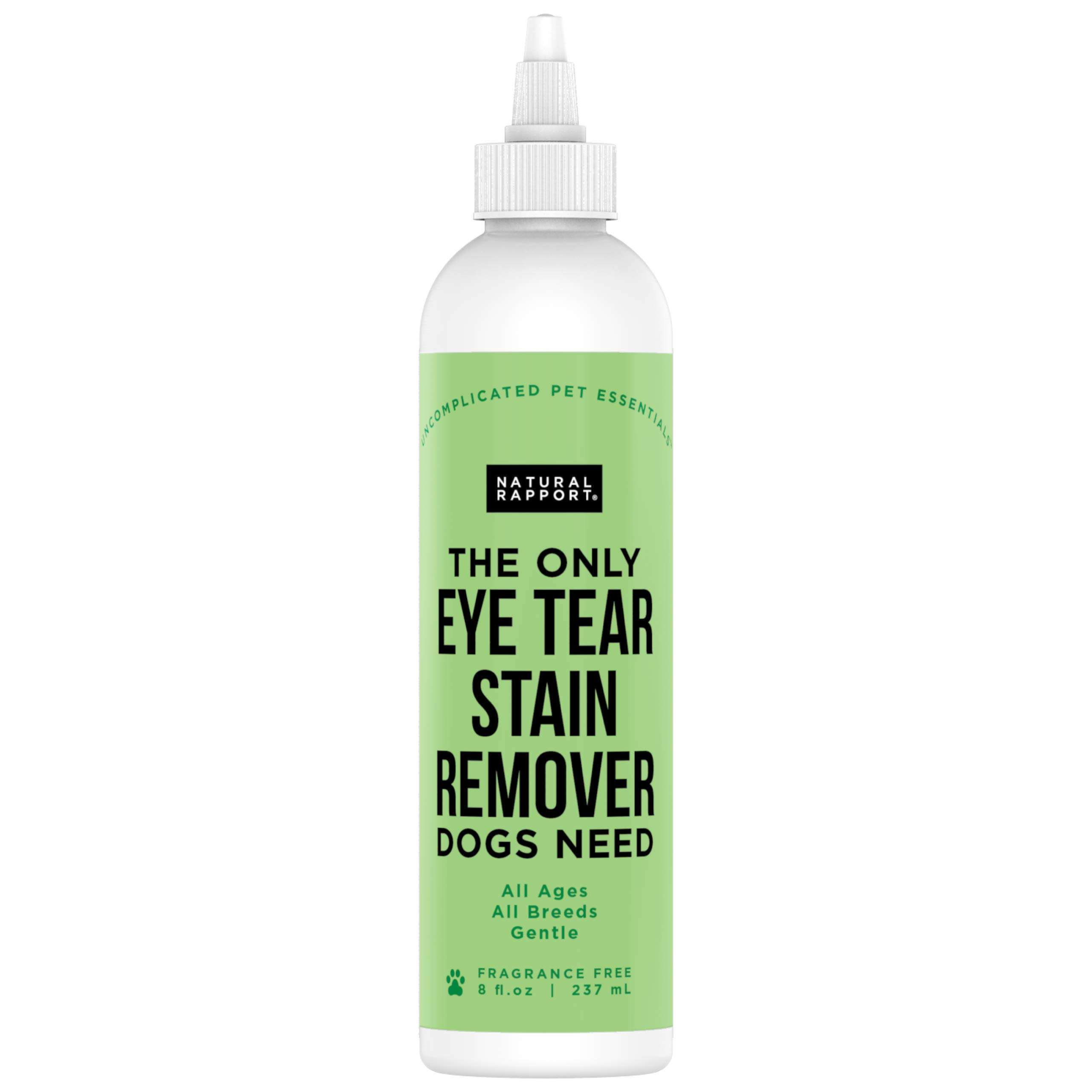 Natural Rapport Pet Eye Stain Remover - The Only Eye Tear Stain Remover Dogs Need, Dog and Cat Tears Stain Removing Treatment (Drops & Wipes)