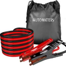 Jumper Cables 6 Gauge 16 Feet, Automatters Heavy Duty Booster Cables with Carry Bag, Jump Start Dead or Weak Batteries for Car (6AWG x 16FT)