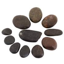 rockcloud 1 lb Natural Black Stone Pebbles Kindness Rocks for Painting, Landscaping, Home Decor, Reiki Crytsal Healing
