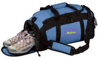 all about me company Personalized Volleyball 2 Gym Sports Duffel Bag (Carolina Blue)