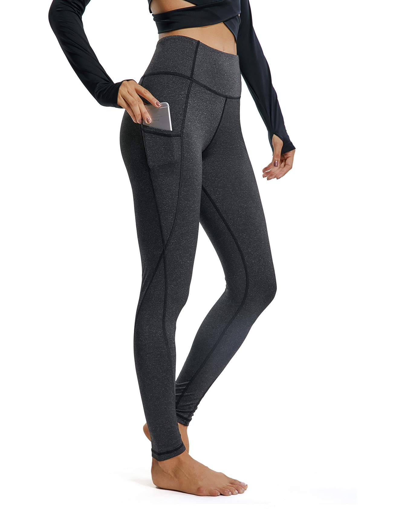 Women Scrunch Butt Yoga Leggings with Pockets Butt Lift Booty Leggings Tummy Control Workout Pants Flattering Gym Tight L