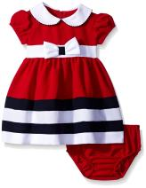 Bonnie Baby Baby Girls' Peter Pan Collar Nautical Dress and Panty Set