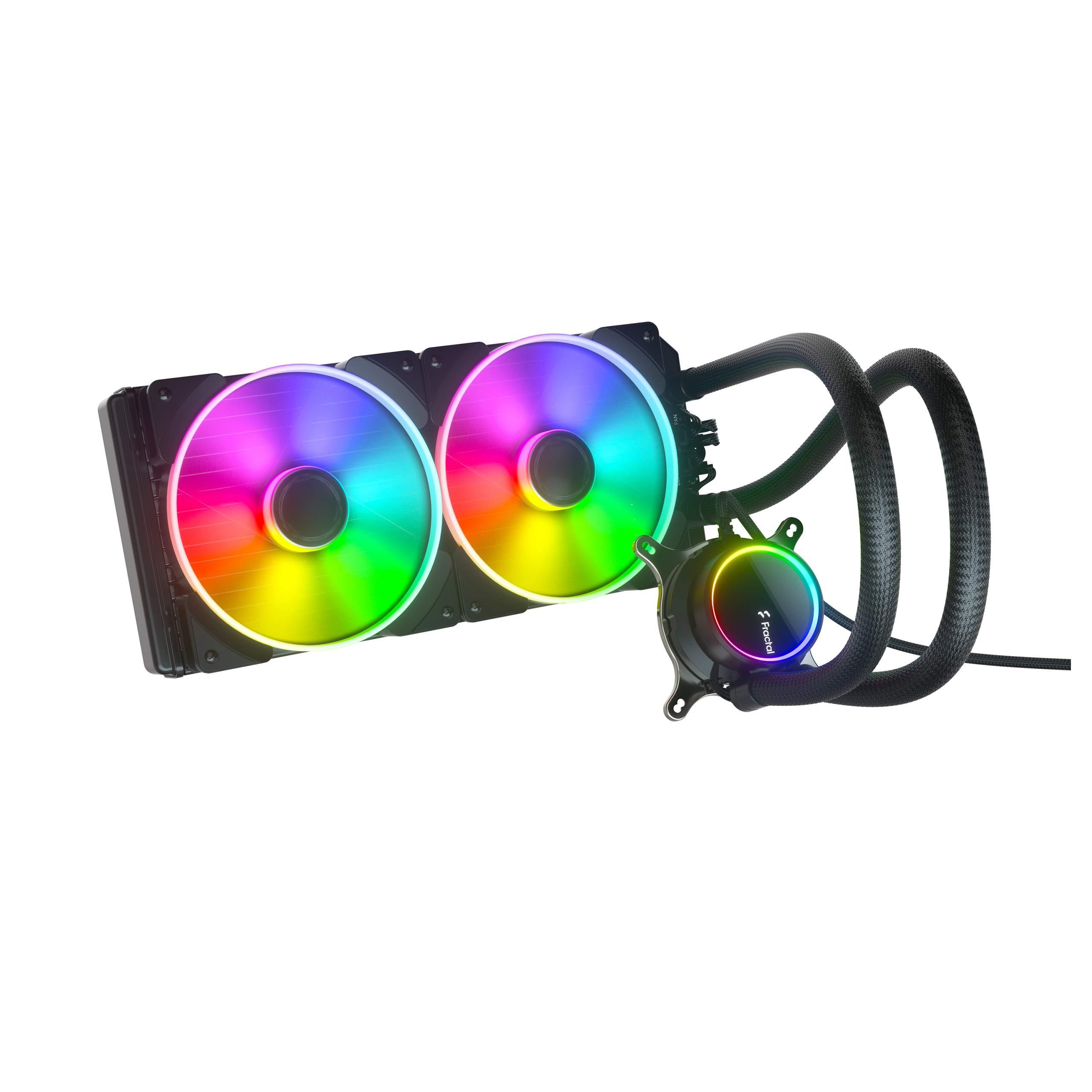 Fractal Design Celsius+ S28 Prisma PWM ARGB 280mm Silent Performance Slim Radiator AIO CPU Liquid/Water Cooler (FD-W-2-S2802)