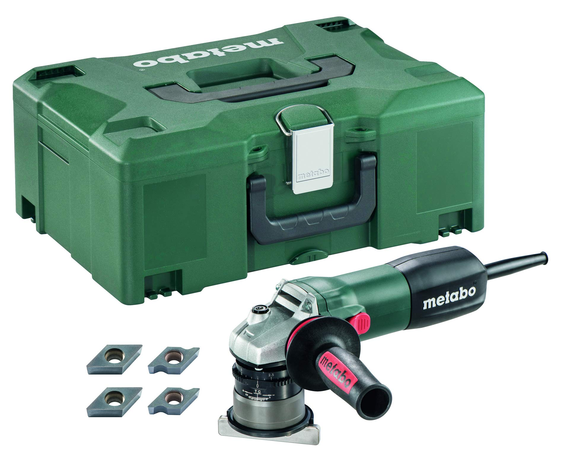 """Metabo- 1/8"""" Variable Speed Chamfer/Radius Tool - 4, 500-11, 500 Rpm - 8.0 Amp - W/Lock-On (601751750), Beveling Tools"""