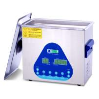 Professional Ultrasonic Cleaner-DK SONIC Sonic Cleaner with Heater and Basket for Denture, Coins,Small Metal Parts,Record,Circuit Board,Daily Necessaries,Tattoo Equipment,Lab Tools,etc