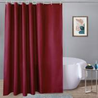 UFRIDAY Polyester Burgundy Shower Curtain, Extra Long Fabric Bath Curtain Machine Washable, 72 inches x 78 inches