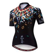 Evervolve Women's Cycling Jersey Short Sleeve Bike Top Road Bicycle Shirts