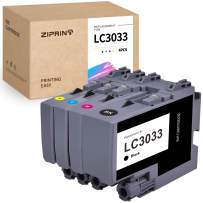 ZIPRINT Compatible Ink Cartridges Replacement for Brother LC-3033 XXL LC3033 LC 3033 Work with MFC-J995DW MFC-J995DW XL MFC-J815DW XL Inkjet Printer (Black,Cyan,Magenta,Yellow 4-Pack)