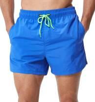 SILKWORLD Men's Swim Trunks Quick Dry Shorts Bathing Suit with Mesh Lining