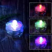 AGPTEK 24 Pack LED Submersible Waterproof Battery Tea Vase light Candle Wedding Floral Decoration - RGB Color