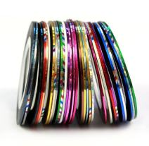 30 Color Rolls Striping Tape Line Nail Art Decoration Sticker