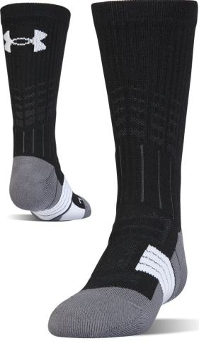 Under Armour Youth Performance Team Crew Socks 1 Pair White//Black Size L 1-4