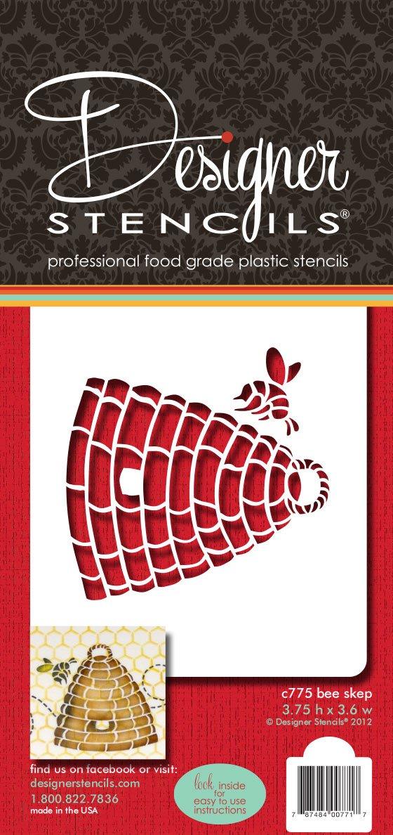 Beige//Semi-Transparent Designer Stencils C840 Indian Animals Stencil Set