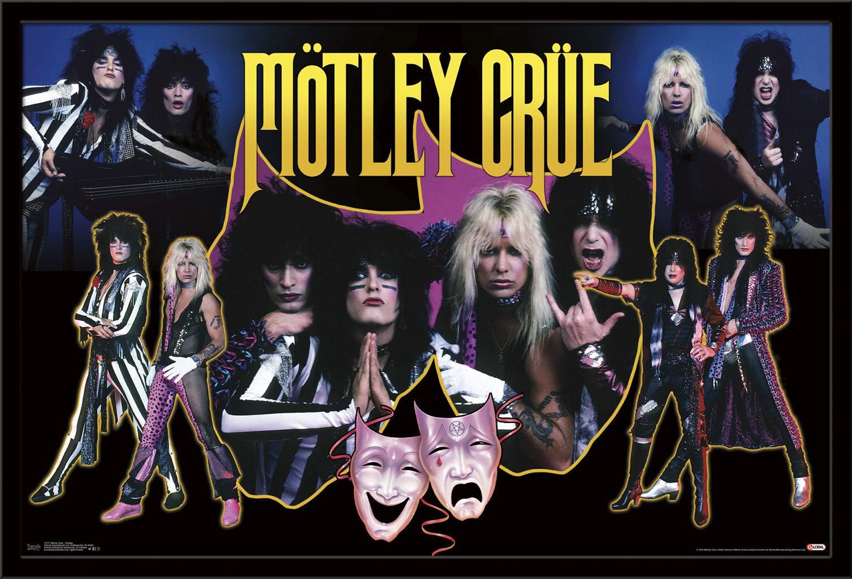"Trends International Motley Crue - Collage, 22.375"" x 34"", Black Framed Version"