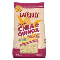 LATE JULY Snacks Restaurant Style Chia & Quinoa Tortilla Chips, 11 oz. Bag (Pack of 9)