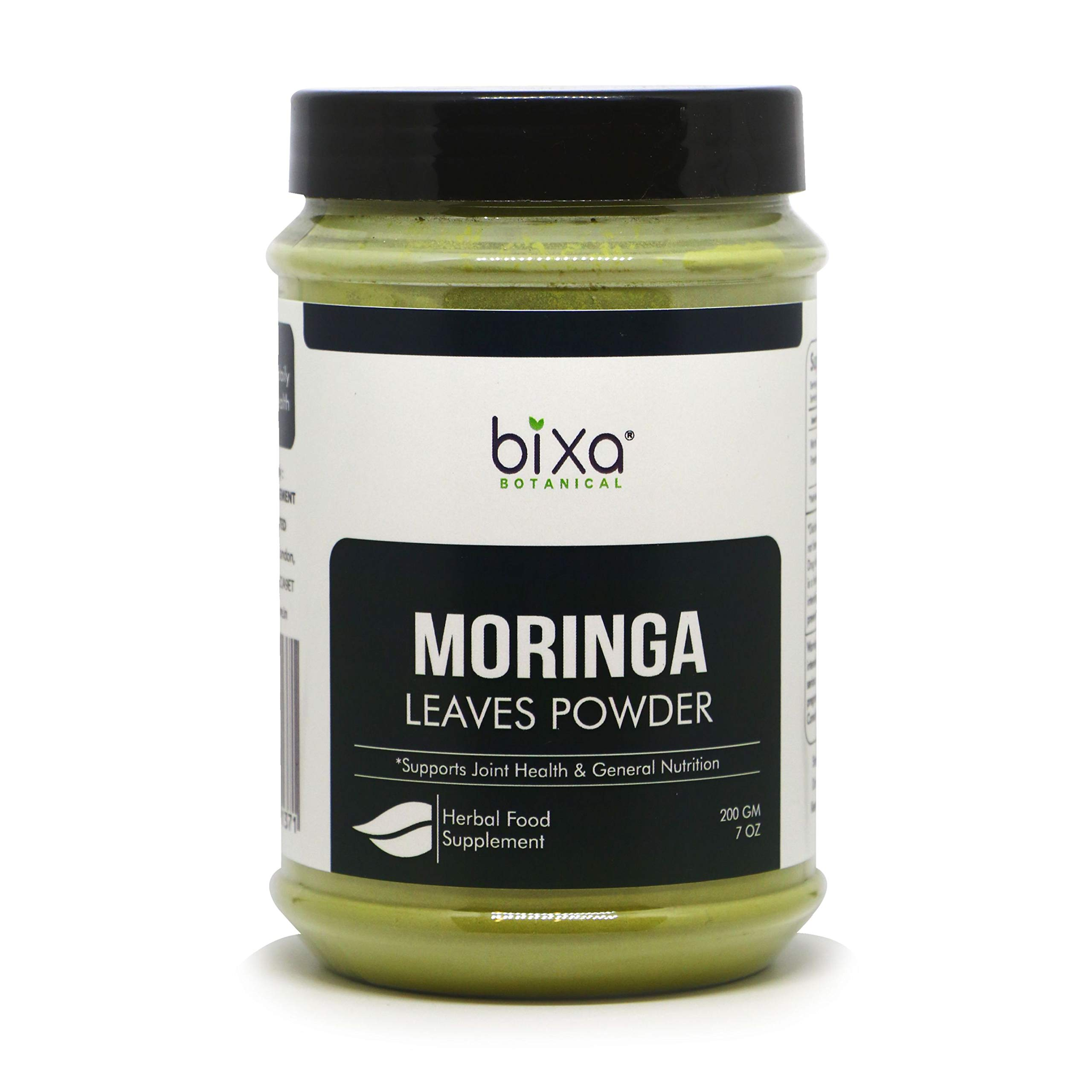 Moringa Leaves Powder (Moringa Oleifera) - USDA Organic ǀ Multi-Vitamin Green Super Food Supplement ǀ Helps in Joint Pain and Blood Circulation ǀ Pure Natural Nutrition Supplement - 7 Oz (200g)