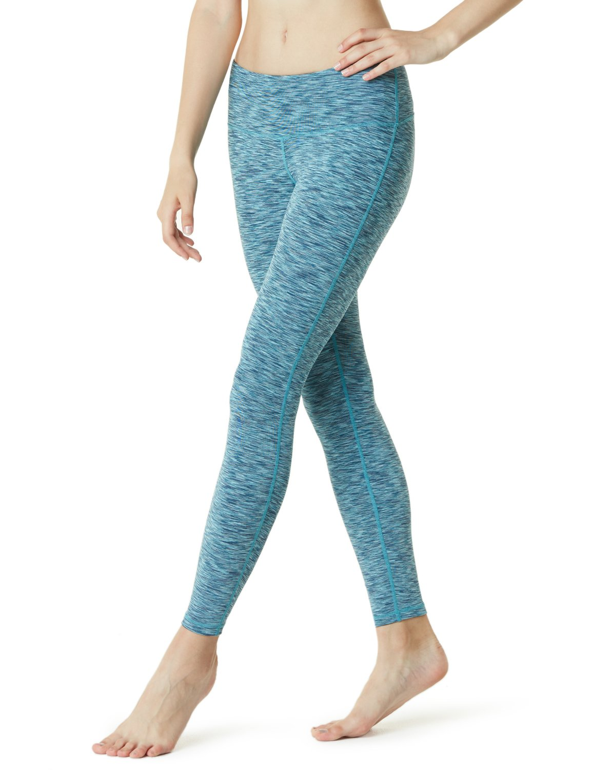 TSLA Women High Waist Yoga Pants with Pockets, Tummy Control Yoga Capris, 4 Way Stretch Capri Leggings with Pockets