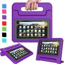 AVAWO Kids Case for Amazon Fire 7 2019, Kids Shockproof Convertible Handle Light Weight Stand Protective Case for All New Fire 7 Tablet (9th Generation, 2019 Release), Purple