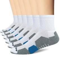 AKOENY Men's Performance Athletic Quarter Socks for Running, Training & Hiking (6 Pack)
