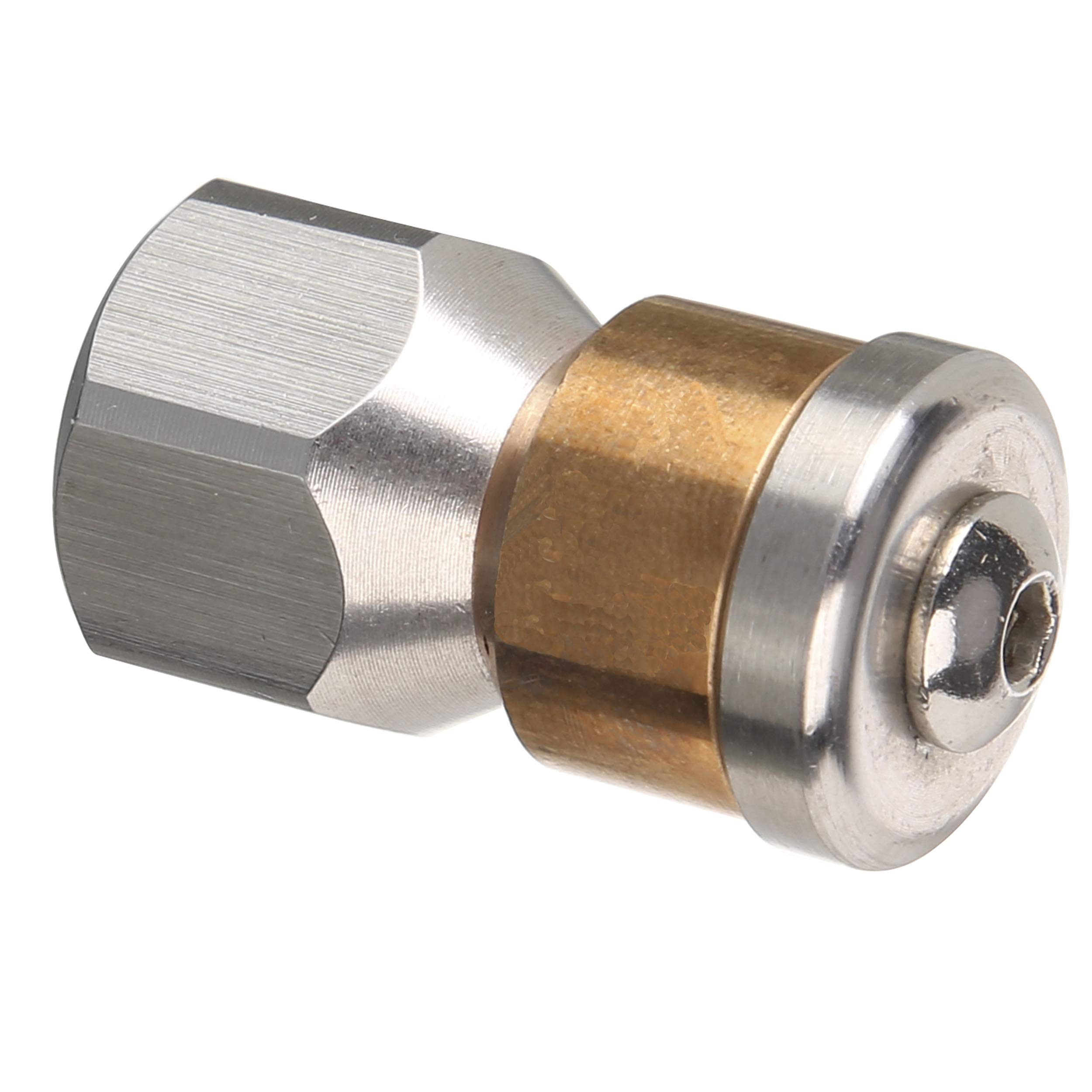 Tool Daily Rotating Sewer Jetter Nozzle for Pressure Washer, 1/4 Inch F-NPT, 4000 PSI