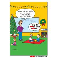 F-kin D-ckhead - 12 Funny Adult Merry Christmas Cards with Envelopes (4.63 x 6.75 Inch) - Hilarious Bad Kids Daycare, Happy Holidays Notecard Set - Illustrated Cartoon Stationery Set B1533