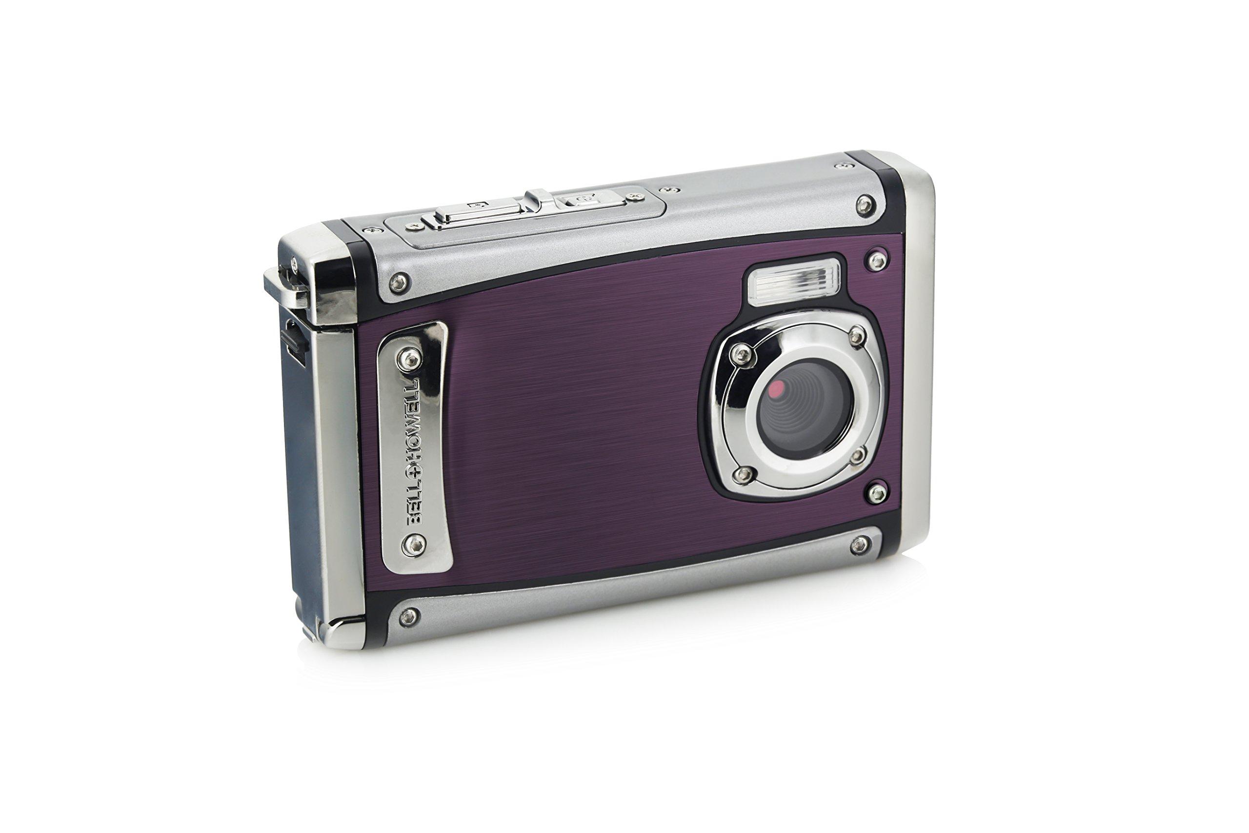 """Bell+Howell WP20-P Splash3 20 Mega Pixels Waterproof Underwater Digital Camera with Full 1080p HD Video, 2.4"""" LCD & 8X Digital Zoom, Purple"""