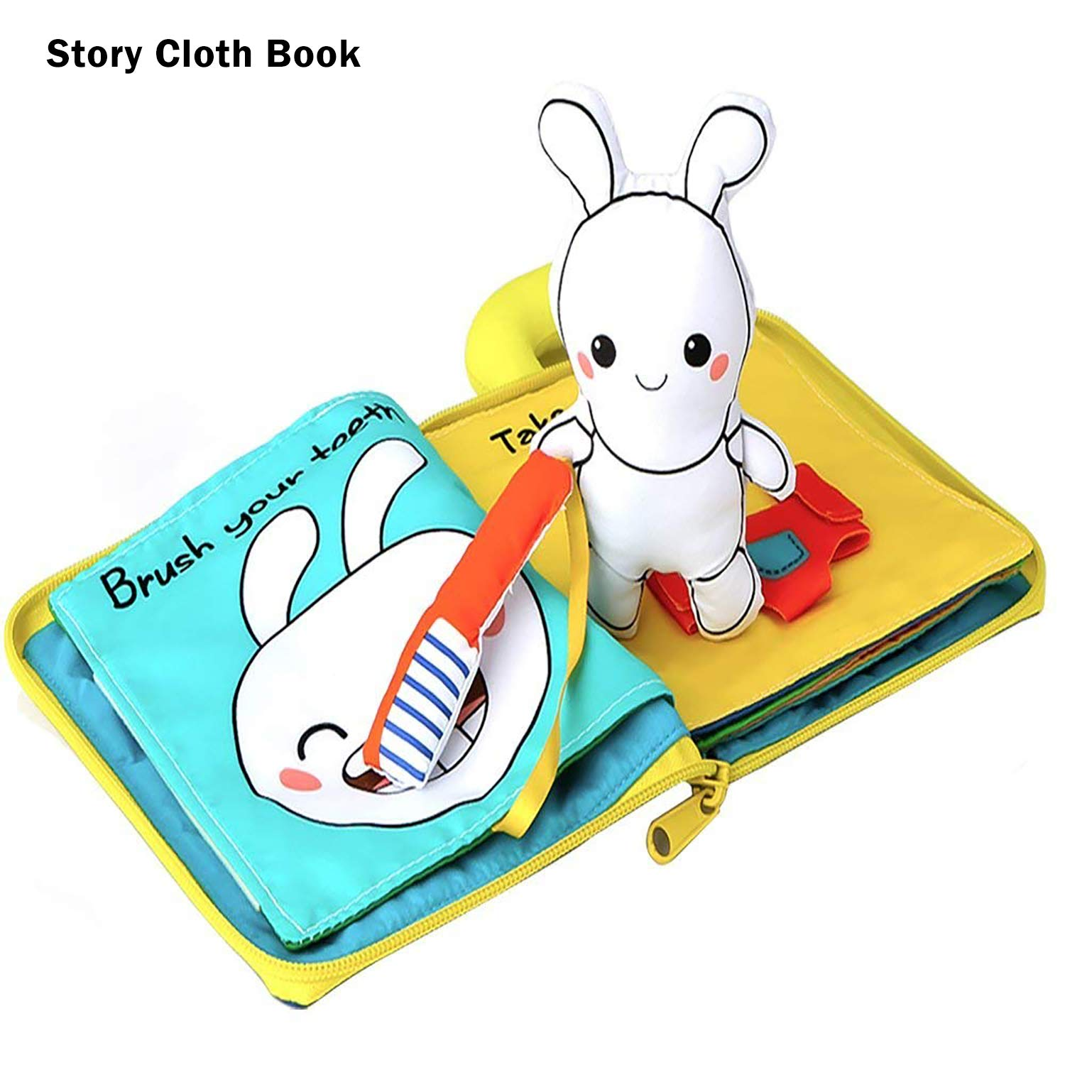 beiens 9 Theme My Quiet Books, Soft Activity Books Nontoxic Fabric Touch and Feel Cloth Books Interactive Sensory First Year 3D Busy Books Toys for Baby, Infant, Toddler, Gift for Baby Shower Birthday