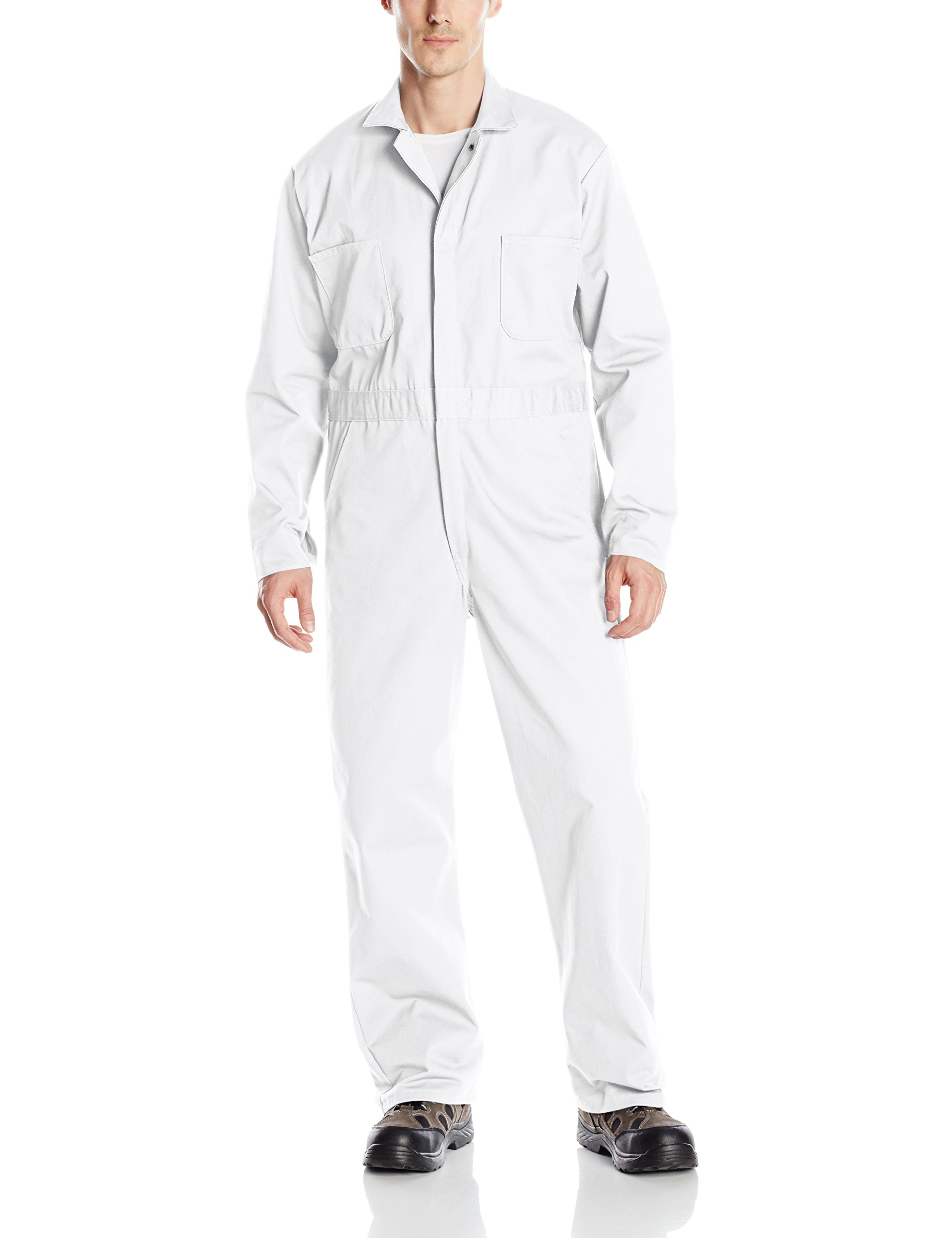 Red Kap Men's Snap Front Cotton Coverall, Oversized Fit, Long Sleeve