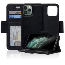 Navor Detachable Magnetic Wallet Case with RFID Protection Compatible for iPhone 11 Pro [5.8 inch] [Vajio Series] - Black [IP11PROVJBK]