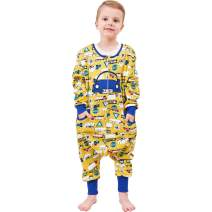ZEBZOO Cars Wearable Blanket for Boys Kids Sleeper with Feet Double Layered Cotton Sack Size L