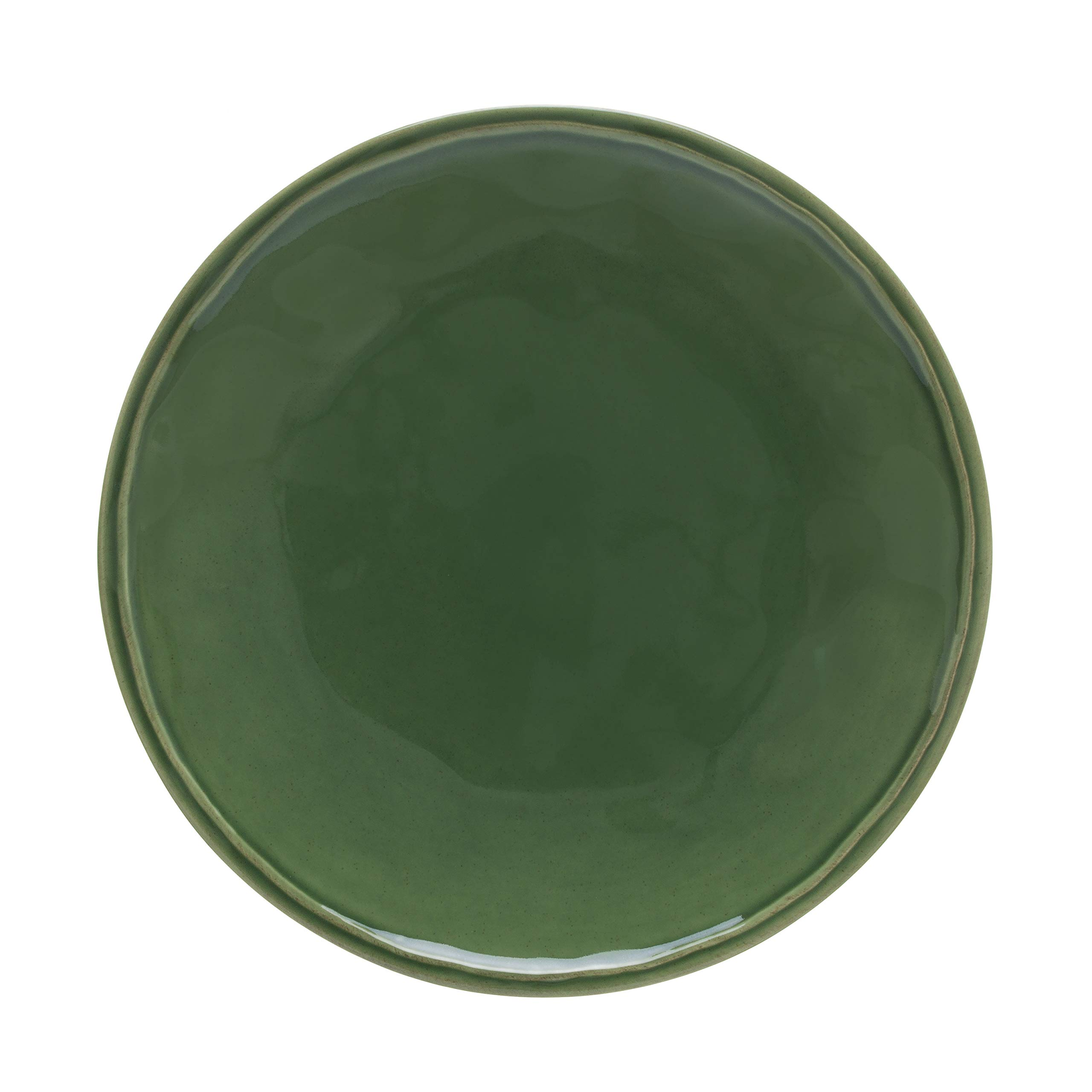 "Casafina Stoneware Ceramic Dish Fontana Collection Dinner Plate, 11.25"" (Forest Green)"