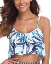 Tempt Me Women Flounce Swimsuit Falbala Ruffled Chic Bikini Tops