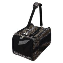dbest products Pet Smart Cart Carrier, Large, Leopard, Soft Sided Collapsible Folding Travel Bag, Dog Cat Airline Approved Tote Luggage Backpack